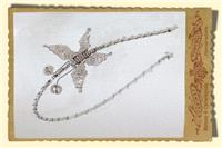 Jewellery. Beaded butterfly hairband, in clear/silver with champagne. Suitable for bridesmaids and f