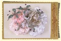 Jewellery. Flowers with Butterflies. Silk floral corsage with intricately beaded butterflies.