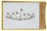 Jewellery. Classical tiara with flower structures.