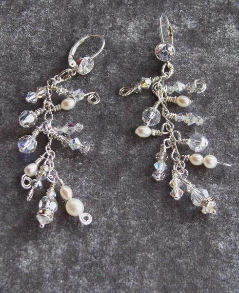 Jewellery, Earrings with Pearls.