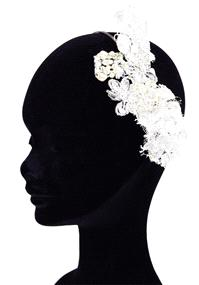 Jewellery. Arianna Lijar383 headband (Ref. Lijar383 38258237) with beautiful lace and pearl flowers
