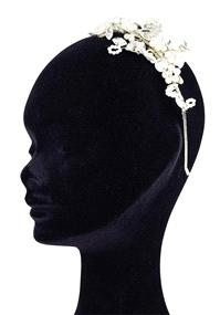 Jewellery. Halo & Co headband (Ref. UA11-24 38781506). Pearl and diamond headband.