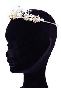 Jewellery. Linzy Jay headband (Ref. IZFH3028 37836078). Stunning flower tiara with pearls and Swarov