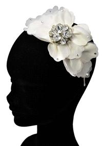 Jewellery. Ivory Petal and Silver Headband (Ref. RIDTR1318 38194115).
