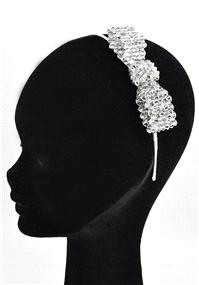 Jewellery. Silver Beads & Bow Style Headband (Ref. 38194100).