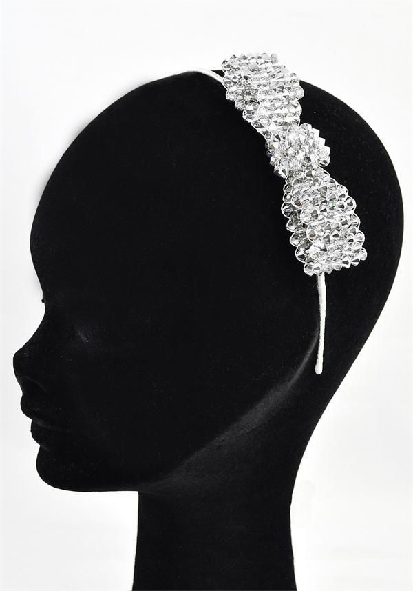 Jewellery, Silver Beads & Bow Style Headband (Ref. 38194100).