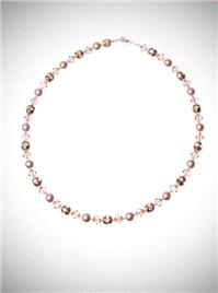 Jewellery. Almond Chain. This simple one strand necklace is made incorporating an almond coloured pe