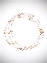 Jewellery. Pearl and Diamante Choker. A vintage inspired design, this choker is made using ivory pea