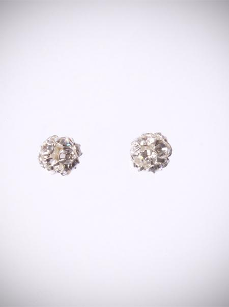 Jewellery, Crystal Cluster Studs. Silver Diamante studs in 6mm. Sterling silver fitting.