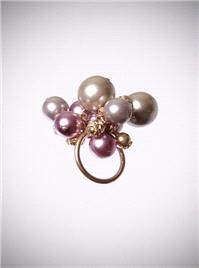 Jewellery. Mauve Cocktail Ring.