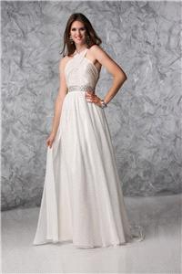 Bridal Dresses. Lady Elenor wedding dress. Beautiful light weight chiffon dress with stunning cross