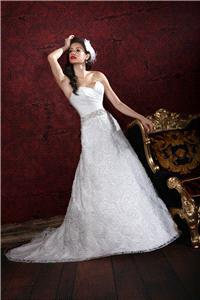 Bridal Dresses. Lady Grace wedding dress. Organza lace gown with sweetheart neckline and pleats bodi