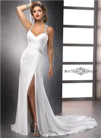 Bridal Dresses. Lady Delanie wedding dress. Sleek and sexy, this slim silhouette of Paris Chiffon sh