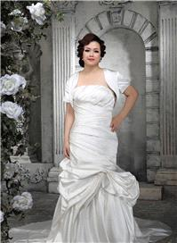 Bridal Dresses. Lady Santana wedding dress. A stunning Duchess Satin gown with matching balero, beau