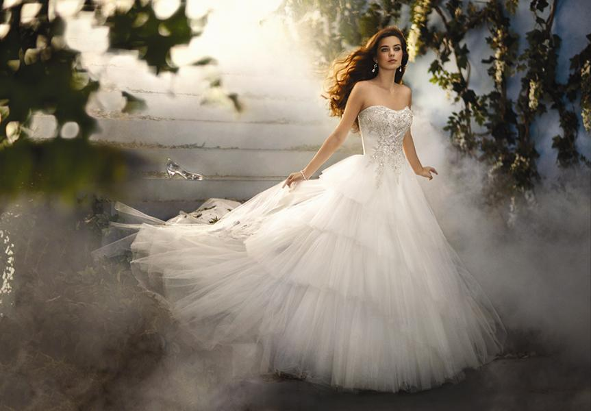 Bridal Dresses, Cinderella Platinum wedding dress. Satin and tulle gown. Comes in ivory/metallic and