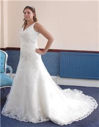 Bridal Dresses. Lady Victoria wedding dress. This Stunning Lace Gown with a Chapel Length Train and