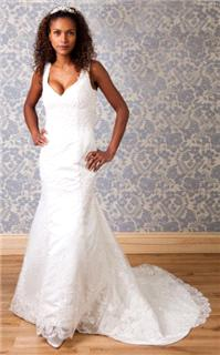 Bridal Dresses. Lady Isobel. This Gorgeous Vintage Lace Gown with lace straps, zip back and fitted t