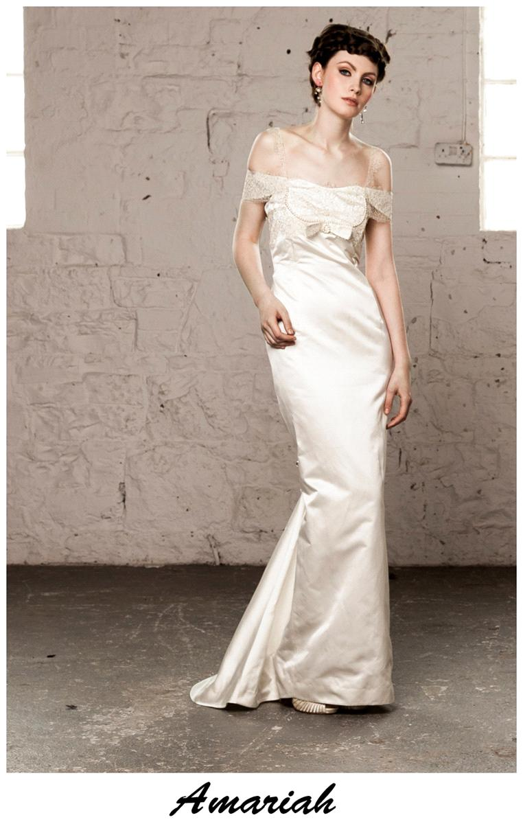Bridal Dresses, Claire O'Connor's _W_ collection: Amariah wedding dress.