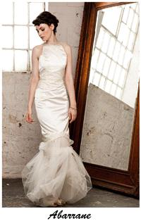 Bridal Dresses. Claire O'Connor's _W_ collection: Abarrane wedding dress.
