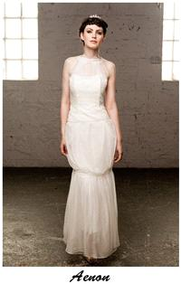 Bridal Dresses. Claire O'Connor's _W_ collection: Aenon wedding dress.
