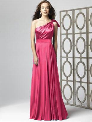 Attire, Dessy (2861) wedding dress.