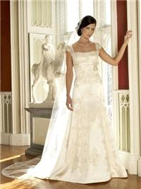 Bridal Dresses. Martha wedding dress. This dress is a soft Aline shape skirt with a empire lining un