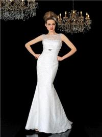 Bridal Dresses. Marilena wedding dress. High soft sweet heart neck line, empire lining under the bus