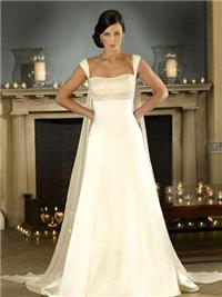 Bridal Dresses. Ruby wedding dress. Empire lining with  Swarovski crystals detail and gathered chiff