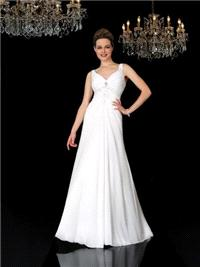 Bridal Dresses. Carolyn wedding dress. Slight sweet heart neck line with a soft A line skirt. It has