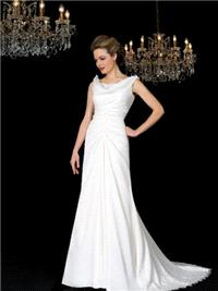 Bridal Dresses. Romana wedding dress. Very elegant cowel neck line and a soft A line skirt with gath