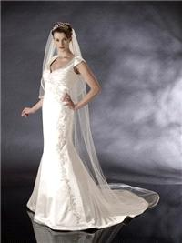 Bridal Dresses. Roisin wedding dress. V neck/sweet heart neck line with a little cap sleeve on the s