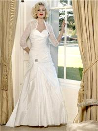 Bridal Dresses. Amy-Lee wedding dress. This dress has a sweet heart neck line with gathers and ruchi