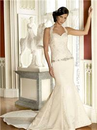 Bridal Dresses. Georgina wedding dress. Sweet heart neckline with a detachable halter neck strap and
