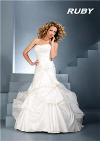 Bridal Dresses. Ruby wedding dress. Alteration service available for an additional fee.