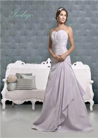 Bridal Dresses. Indigo wedding dress. Alteration service available for an additional fee.