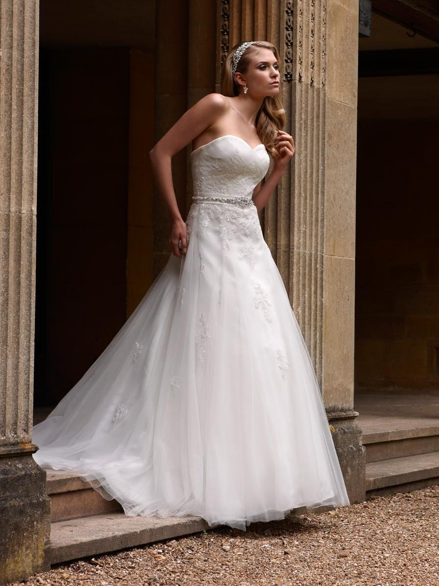 Bridal Dresses, Opulence Houston wedding dress (2013 collection). A lavish lace dress with trailing