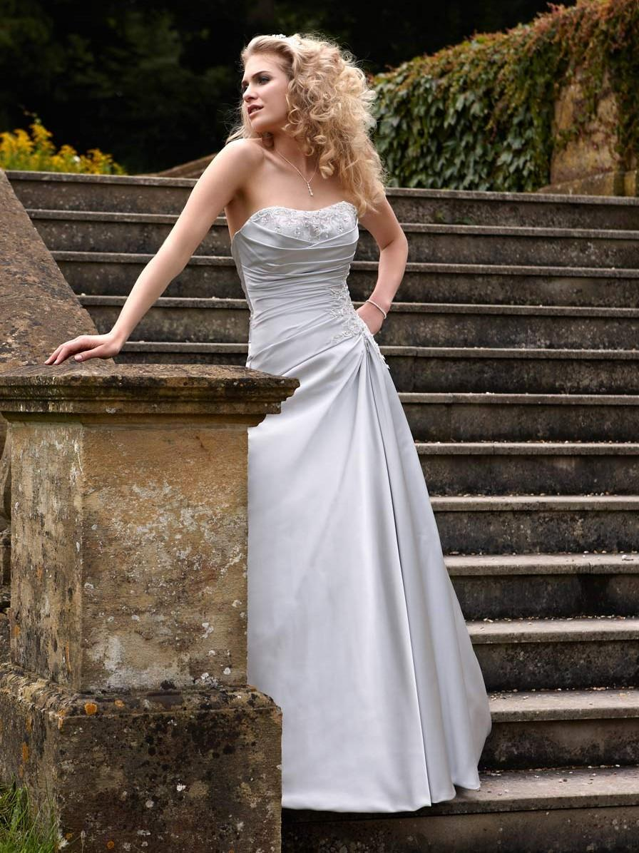 Bridal Dresses, Opulence Monteray wedding dress (2013 collection). A flawless satin gown with ruched
