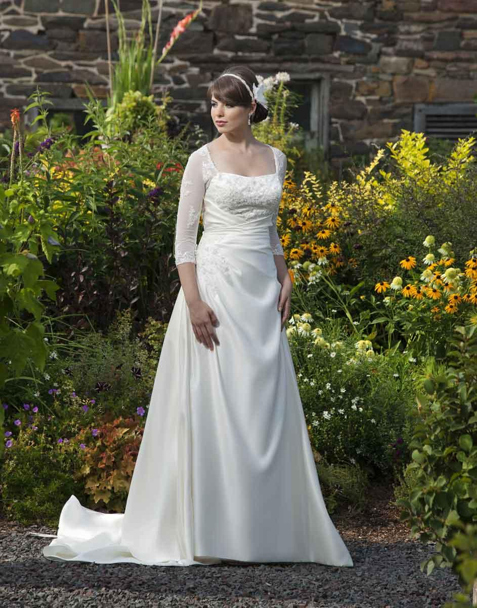 Amazoncom Tea Length Wedding Dresses With Sleeves