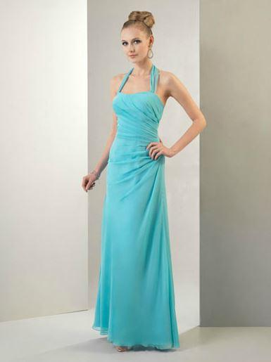 Attire, Bridesmaid chiffon dress (ice).