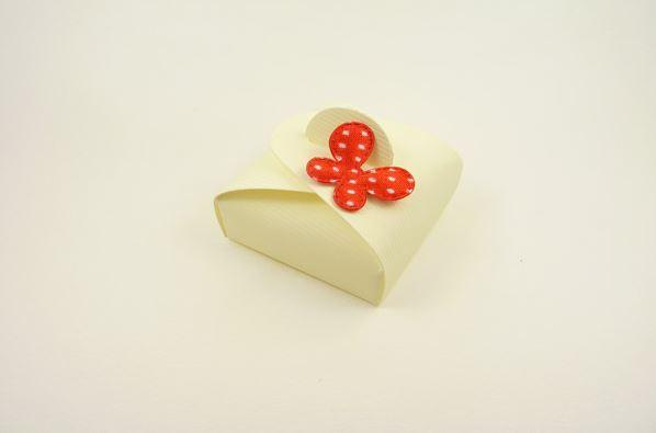 Accessories and Favours, Red Polka Dot Mini Astuccio favour box (H:17mm, W:47mm, D:47mm) decorated w