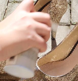 Bride, How To DIY Sparkly Shoes