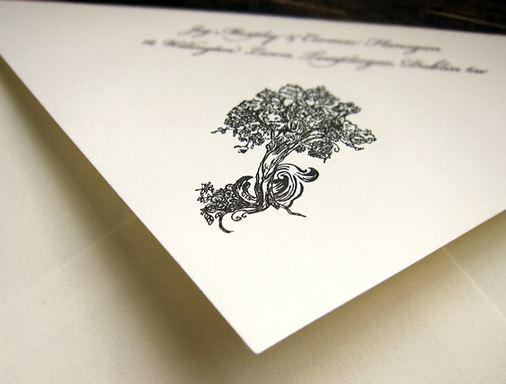 Couture Wedding Stationery, Invitation
