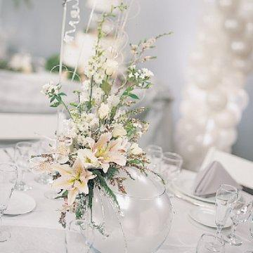 Winter wedding table arrangements