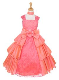 https://www.paraprinting.com/orange-coral/2619-coral-taffeta-layered-dress-w-lace-style-d5722.html