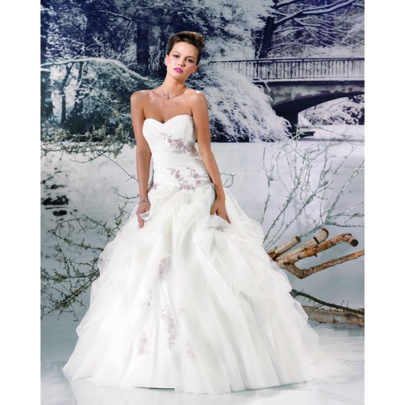 My Stuff, Honorable Ball Gown Sweetheart Lace Ruching Chapel Train Tulle Wedding Dresses - Dressesul