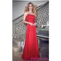 Full Length Chiffon One Shoulder Gown - Brand Prom Dresses|Beaded Evening Dresses|Unique Dresses For