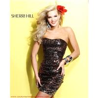 1491 Sherri Hill Brown/Animal Size 4 In Stock - HyperDress.com