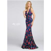 Navy Blue/Multi Ellie Wilde by Mon Cheri EW117087  Ellie Wilde by Mon Cheri - Elegant Evening Dresse