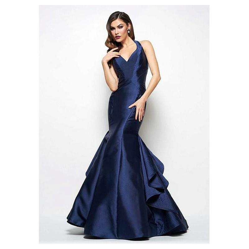 My Stuff, Elegant Taffeta Halter Neckline Mermaid Evening Dresses With Ruffles - overpinks.com