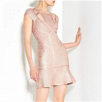 New high-end sexy pierced a night clubparty bandage dress evening dress H2304 - Bonny YZOZO Boutique